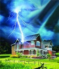 Молниезащита зданий, молниеприемник г.Бийск